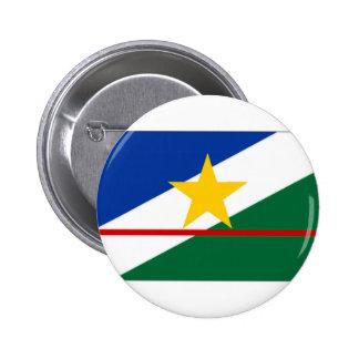 ブラジルRoraimaの旗 5.7cm 丸型バッジ