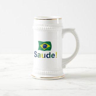 ブラジルSaude! ビールジョッキ