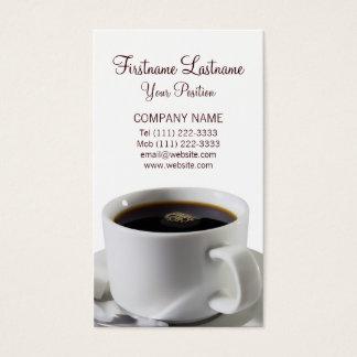 ブラックコーヒーのコップ 名刺