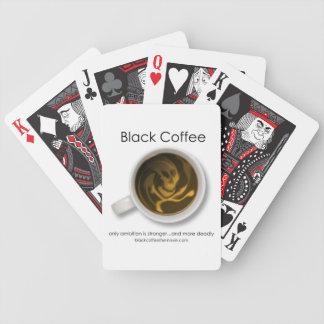 ブラックコーヒー映画ロゴのトランプ バイスクルトランプ