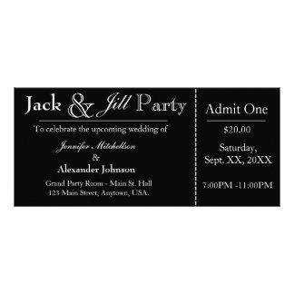 ブラックジャックおよびジルのシャワーのチケットの招待状 ラックカード
