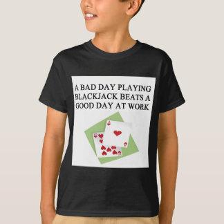 ブラックジャック21のゲームプレーヤー Tシャツ