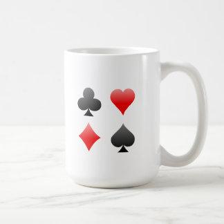 ブラックジャック/トランプのポーカーカードスーツ: ベクトル芸術: コーヒーマグカップ