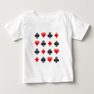 ブラックジャック/トランプのポーカーカードスーツ: ベクトル芸術: ベビーTシャツ