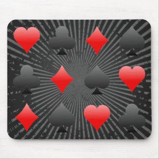 ブラックジャック/トランプのポーカーカードスーツ: ベクトル芸術: マウスパッド