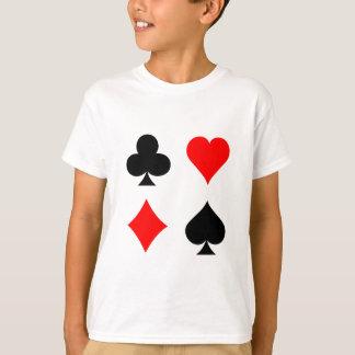 ブラックジャック/トランプのポーカーカードスーツ: ベクトル芸術: Tシャツ