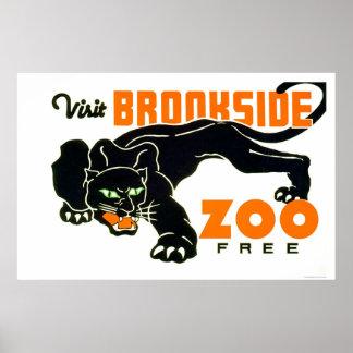 ブラックパンサーの動物園1937 WPA ポスター