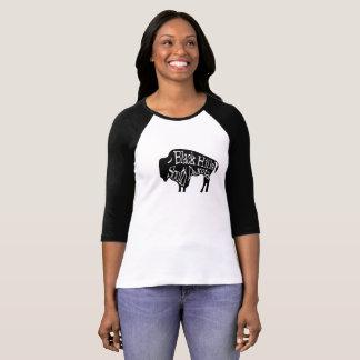 ブラックヒルズサウスダコタのバイソンのバッファローのTシャツ Tシャツ