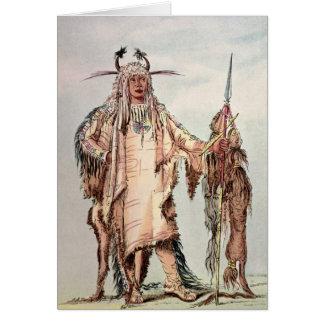 ブラックフットのインドのPe Toh小便キス、ワシの肋骨 カード