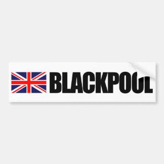 ブラックプールのイギリスの旗のバンパーステッカー バンパーステッカー