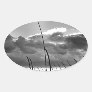 ブラックプールのポッド 楕円形シール