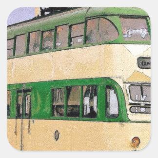 ブラックプールの市街電車 スクエアシール