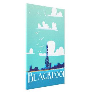 ブラックプール、イギリスのヴィンテージ旅行ポスター キャンバスプリント