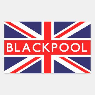 ブラックプール: イギリスの旗 長方形シール