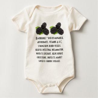 ブラックベリーの幼児onsieのクリーパー ベビーボディスーツ
