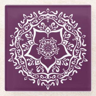 ブラックベリーの曼荼羅 ガラスコースター