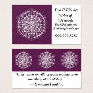ブラックベリーの曼荼羅 名刺