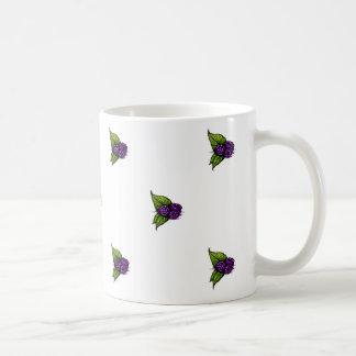 ブラックベリーパターンマグ コーヒーマグカップ