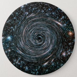 ブラックホールの星団の写真 15.2CM 丸型バッジ