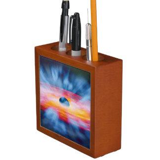 ブラックホールの流出-カラフルな芸術家の概念 ペンスタンド