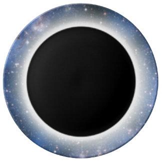 ブラックホールHDのプレート 磁器プレート