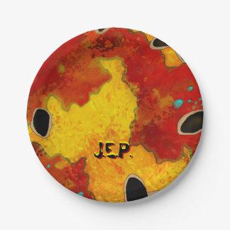 ブラッドオレンジのカスタムな紙皿7つ ペーパープレート