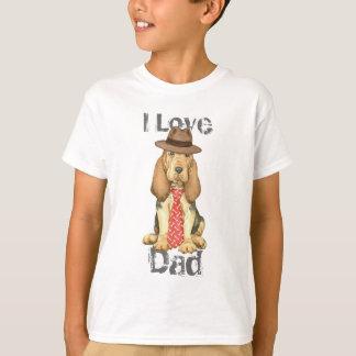 ブラッドハウンドのパパ Tシャツ