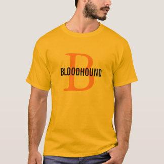 ブラッドハウンドの品種モノグラムのデザイン Tシャツ