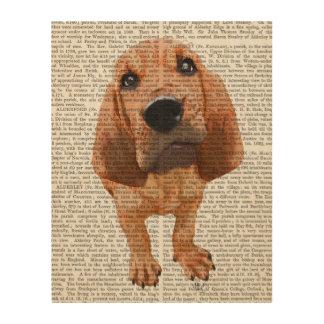 ブラッドハウンドの子犬 ウッドウォールアート