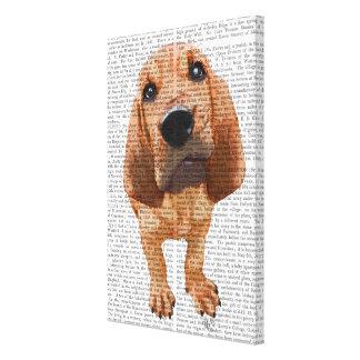 ブラッドハウンドの子犬 キャンバスプリント
