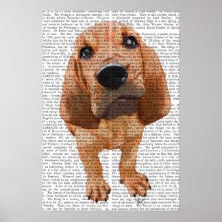 ブラッドハウンドの子犬 ポスター