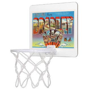 ブラッドリーのビーチのニュージャージーNJのヴィンテージの古い郵便はがき ミニバスケットボールゴール