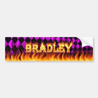 ブラッドリーの実質火および炎のバンパーステッカーは設計します バンパーステッカー
