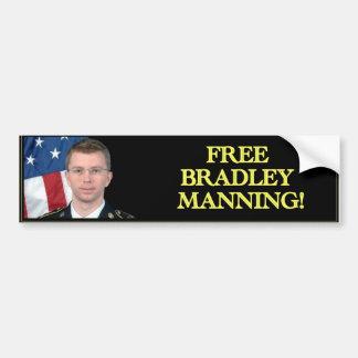 ブラッドリーの自由な人を配置すること! バンパーステッカー