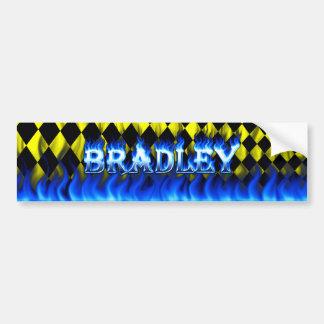 ブラッドリーの青い火および炎のバンパーステッカーは設計します バンパーステッカー