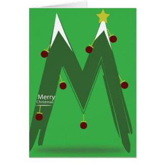 ブランクの中カード-メリークリスマスM グリーティングカード