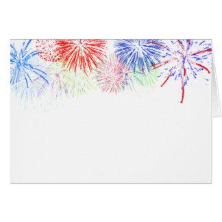 ブランクの花火(背景色を加えて下さい) グリーティングカード