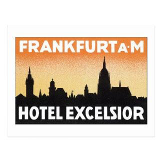 ブランクフルトのホテルの木毛 ポストカード