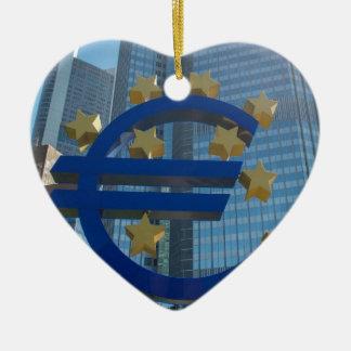 ブランクフルトの欧州中央銀行のヨーロッパの記号 セラミックオーナメント