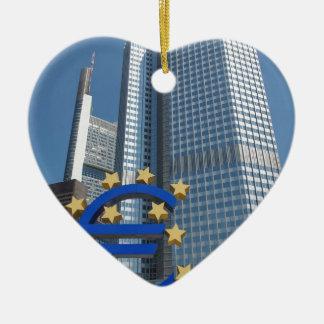 ブランクフルトの欧州中央銀行 セラミックオーナメント
