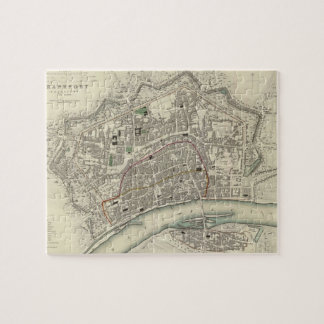 ブランクフルトドイツ(1837年)のヴィンテージの地図 ジグソーパズル