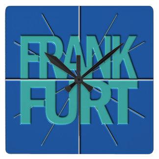 ブランクフルト財政の時間帯の柱時計 スクエア壁時計