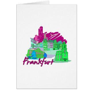 ブランクフルト都市あずき色旅行休暇design.png カード