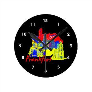 ブランクフルト都市第一次旅行休暇design.png ラウンド壁時計