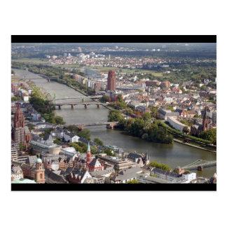 ブランクフルト都市 ポストカード