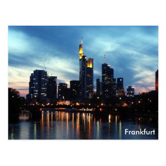 ブランクフルト、ドイツのスカイライン ポストカード