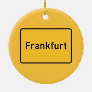 ブランクフルト、ドイツの交通標識 セラミックオーナメント