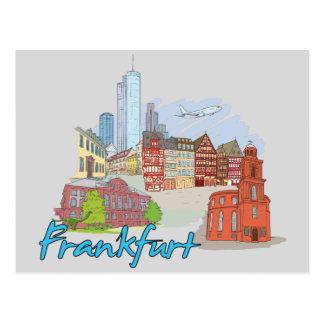 ブランクフルト、ドイツの有名な都市 ポストカード