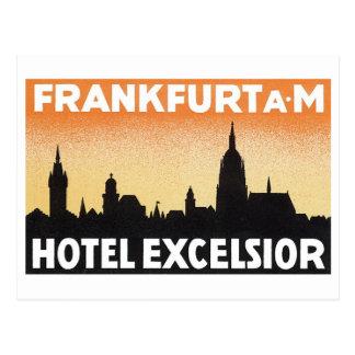 ブランクフルトAMのホテルの木毛 ポストカード