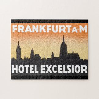 ブランクフルトAM_Vintage旅行ポスターアートワーク ジグソーパズル